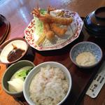 かつ盛 - 料理写真:海老フライのXチェンジ、きてます!