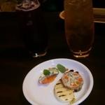 テーブルナナ - ノンアルワイン赤(500円)白(500円)、アミューズ H27.1
