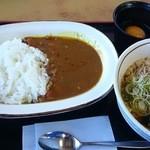 山田うどん - 料理写真:かかしカレーセット 590円