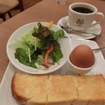 カフェキャンドゥール - Aトーストセット(アメリカンブレンド400円)