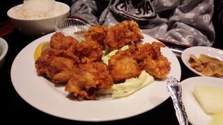 四川料理 福楽 - 鶏のから揚げ定食650円はダブルの味わい!