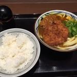 丸亀製麺 - ご飯とWカツカレーうどん 2015/2