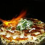 三國志 - 料理写真:炙りねぎマヨのお好み焼