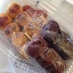 茂助だんご 場外市場店 - こし餡、つぶ餡、醤油焼各団子のセット