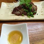 小左衛門焼鳥 - 料理写真:馬レバー刺し