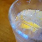 食堂ハタケタナカ - セットドリンクのサイダーは程よい酸味!