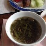 ダイニングカフェ クレメント - 挽肉とお野菜のスープ♡