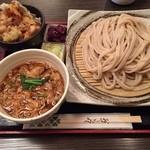 居酒屋 寿毛半 - 武蔵野うどん、かき揚げ丼セット