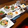 en - 料理写真: 2月のランチ メインは若鶏の天ぷら辛子ポン酢 豚肉と白菜のトマトソース煮込み 鰆の竜田揚げピリ辛ソース添え 小海老の南蛮タルタルソースがけ からお二つお選び下さい