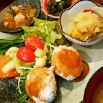 玄三庵 - 本日の健康定食 根菜ハンバーグ