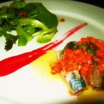 オステリア ニコ - 鰯のサラダ仕立て ラズベリーソース