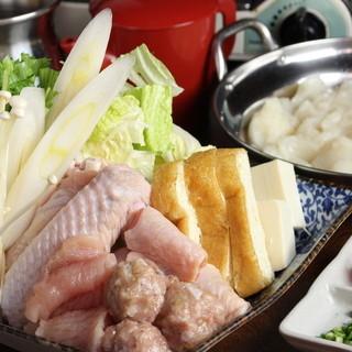 鶏問屋秘伝の水炊き鍋