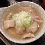 もつしげ - 名物 塩煮込み ¥430外