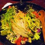 魚菜っぱ - なっとうとおくらと山芋のサラダ