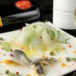 鉄板料理 八天 - 鮮度を活かすのも和食の技術。ワインに合わせる一品に。