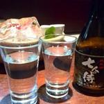 魚料理 ぎん - 日本酒も種類は比較的豊富です。
