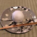 瓢亭 - お茶菓子 (常盤饅頭) (2015/01)