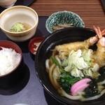 しら川 はなれ - 天ぷらうどん定食