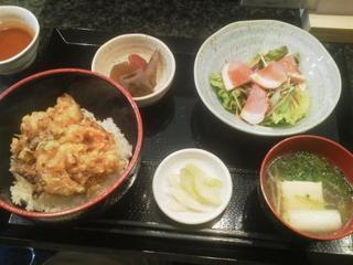 うま煮や - 野菜かき揚げ丼750円