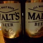 灯り家 - ビールはサントリーモルツ