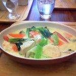 元町カフェ - 野菜の豆乳クリーム煮(800円)