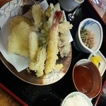 魚亭いいざか - 長男が食べました♡天ぷら定食♡1350円