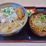 つきみや - 料理写真:カツ丼(蕎麦、お新香付)930円