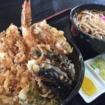生蕎麦 日高 - 天丼セット