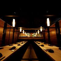 宴会・団体様にぴったり【貸切個室】掘ごたつの完全個室は最大50名様.
