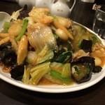 俵飯 - あんかけ揚げやきそば(醤油オイスターダレ)