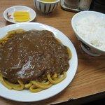 力餅食堂 - カレー皿うどん+ライス 2008/01