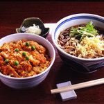 吉祥庵 - カツ丼とおそばのランチセット 1,100円