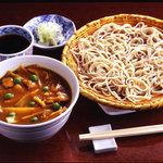 吉祥庵 - カレー丼とおそばのランチセット 950円