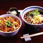 吉祥庵 - 親子丼とおそばのランチセット 1,000円