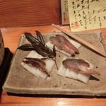魚料理 ろっこん - 鯖のへしこ。800円。