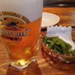 ゆうき亭 - 【'14.7】ビールとお通し