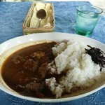 ぶーの家 - 西表島産イノシシ肉のカレーライス。スパイシーで美味しいです。