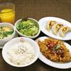 餃子&油淋鶏定食(サラダ付き)