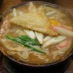 三羅久 - 味噌煮込みうどん卵のっけ\1050-