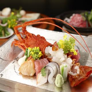 彩り豊かな季節の食材と持ち味を活かした懐石料理