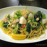 34819923 - メバルとカブ、小松菜のペペロンチーノ レモン味
