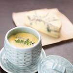 零 - 料理写真:一番人気のブルーチーズの茶碗蒸し