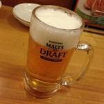 大阪王将 富山五福店 - お店でしか飲めない。モルツ・ザ・ドラフト