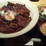 34822661 - 炭焼きデラックス丼(温玉のせ)
