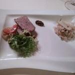 Settosette - 冷前菜:テリーヌカンパーニュ、ライスサラダ+アオリイカ
