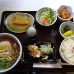 長寿庵 - そば定食「鯖の味噌煮」の別アングル