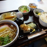 長寿庵 - そば定食「鯖の味噌煮」