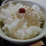 長寿庵 - そば定食のご飯