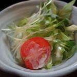長寿庵 - そば定食のサラダ