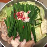 やまや - 博多もつ鍋 こく味噌(¥1324×2人前)